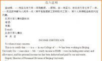 收入证明翻译-收入证明翻译模版